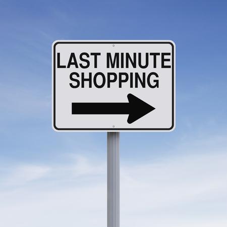 znak drogowy: Koncepcyjne jeden znak drogowy sposób wskazujący Zakupy Last Minute Zdjęcie Seryjne