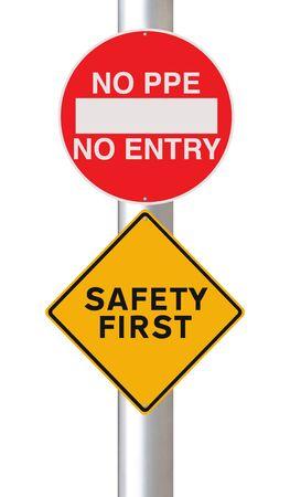 elementos de protección personal: Señales de tráfico modificados en materia de seguridad