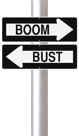 bust: Boom or Bust Stock Photo