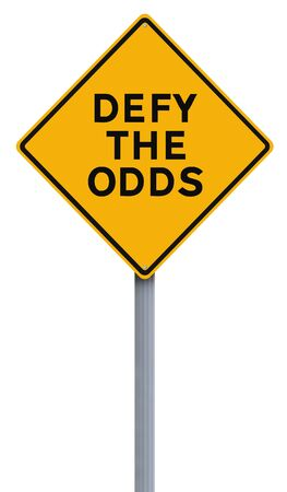 odds: A conceptual road sign indicating Defy the Odds