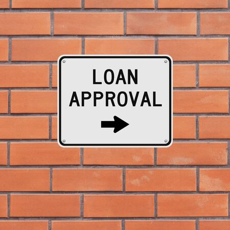 approval: A sign indicating Loan Approval Stock Photo