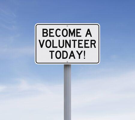 Gewijzigde verkeersbord aangeeft Word een Vrijwilliger