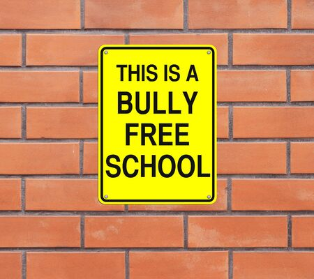 harass: A modified road sign indicating Bully Free School