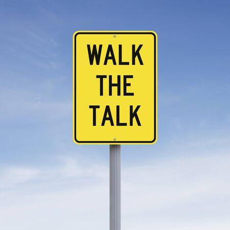 talk: A conceptual sign indicating an idiomatic expression