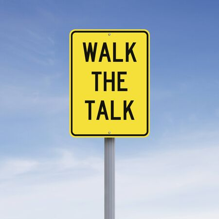 caminar: Un signo conceptual que indica una expresión idiomática