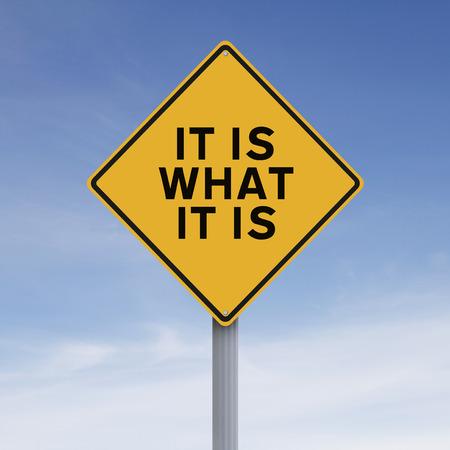 Un segnale stradale che indica che è quello che è