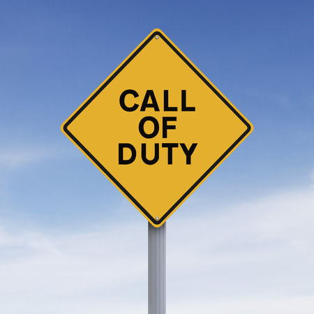 duties: Conceptual road sign indicating Call of Duty
