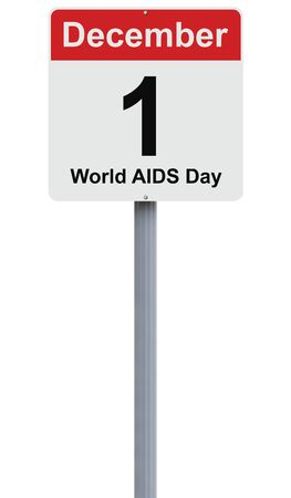 aids: Modified road sign on AIDS