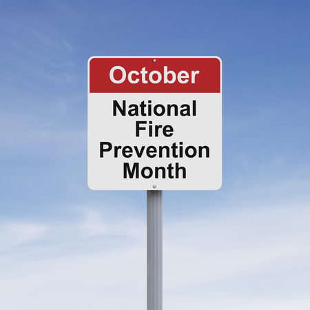 month: Modified road sign on Fire Prevention