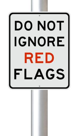 Zmodyfikowany znak na czerwone flagi Zdjęcie Seryjne