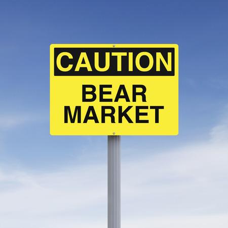 bear market: Beware of Bear Market Stock Photo