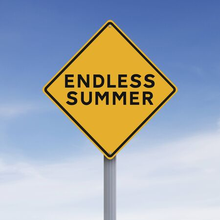 endless: A conceptual road sign indicating Endless Summer