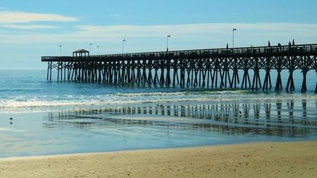 Ozean-Pier Myrtle Beach, South Carolina Standard-Bild - 27681432