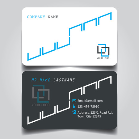 Black white and blue creative modern name card and business card black white and blue creative modern name card and business card with horizontal standard size vector reheart Image collections