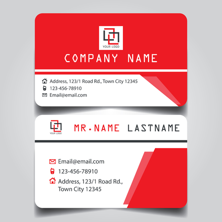 Modern red white and black name card and business card with modern red white and black name card and business card with creative design dimension colourmoves