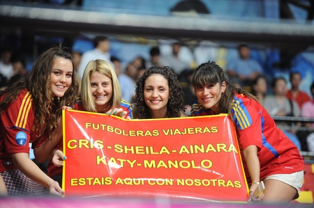 BANGKOK, THAILAND - NOV 14 Unidentified of Spain supporters during the FIFA Futsal World Cup Quarterfinal round between Spain and Russia at Nimibutr Stadium on Nov 14,2012 in Bangkok, Thailand  Editorial