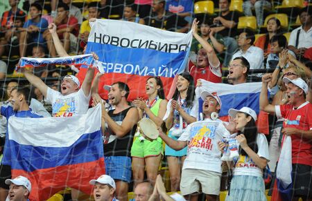 BANGKOK, THAILAND - NOV 14 Unidentified of Russia supporters during the FIFA Futsal World Cup Quarterfinal round between Spain and Russia at Nimibutr Stadium on Nov 14,2012 in Bangkok, Thailand  Editorial