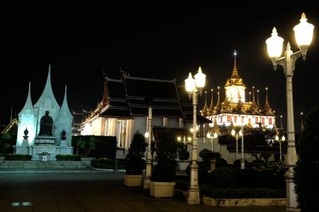 The Royal Pavilion Mahajetsadabadin  at night in Bangkok, Thailand