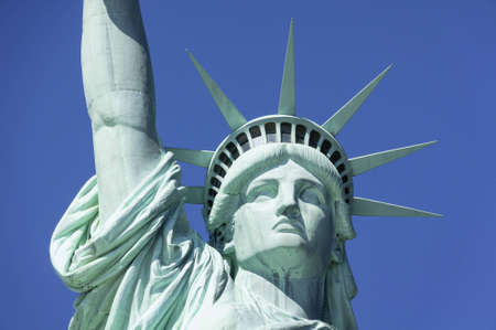 Statue of Liberty in New York set against a clear blue sky Stock Photo - 16974499