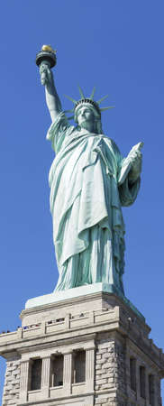Statue of Liberty in New York set against a clear blue sky Stock Photo - 17013003
