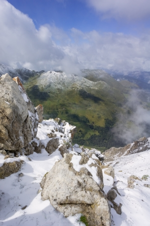 daunting: View from the summit of Aroser Weisshorn