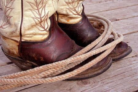 Boots And Lasso Reklamní fotografie - 400885