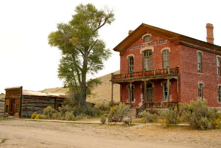 Hotel Meade, Bannack Montana Stock Photo