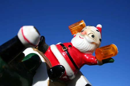Antique ceramic Santa, Christmas Stock Photo - 658508