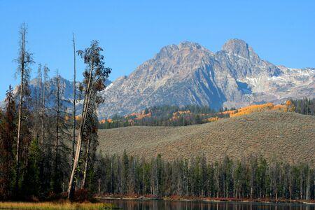 Mt Heyburn, Sawtooth Mountain Range, Idaho Reklamní fotografie