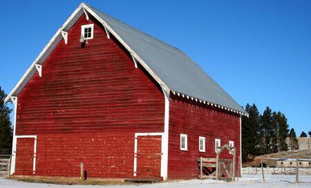 lasting: Rural Idaho barn in early winter