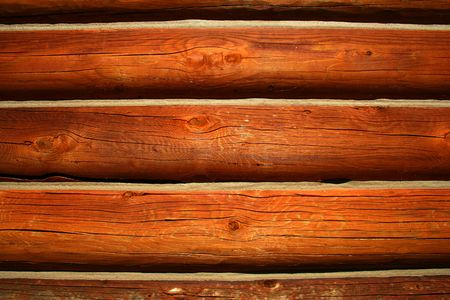 Logs from cabin used as background,rustic Stock Photo