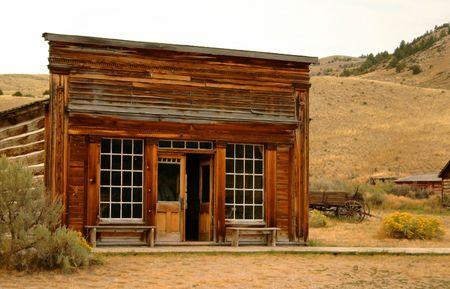 Saloon dans la ville historique de Bannack Montana  Banque d'images - 891808