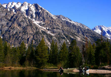 jenny: Fishing Boats At Jenny Lake, Grand Teton Natioanal Park, Wyoming