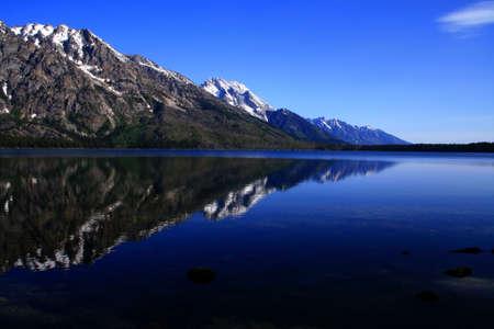 jenny: Early morning reflection on Jenny Lake, Grand Teton National Park, Wyoming