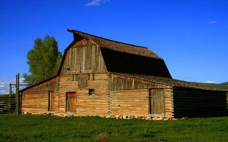 Historic barn located on Mormon Row, Grand Teton National Park, Wyoming Stock Photo - 968898