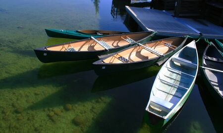 jenny: Canoes ready to rent on Jenny Lake, Grand Teton National Park, Wyoming