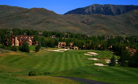 View of golf course in famous Idaho resort