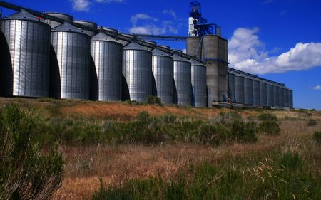 Grain storage and process facility in Osgood Idaho Reklamní fotografie