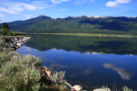 Calm day on Cascade Lake, Valley County Idaho