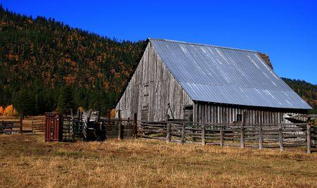 Old Idaho barn in Valley County Idaho Stock Photo - 2009880