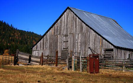 Old Idaho barn in Valley County Idaho Stock Photo - 2014092