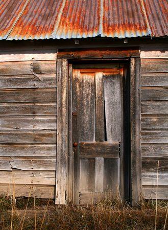 Old barn door on old Idaho barn Stock Photo