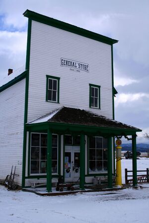 mercantile: Old country store located in central Idaho Stock Photo