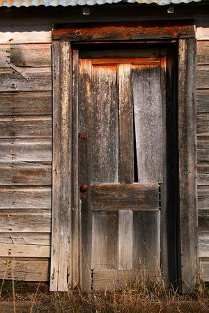 Old barn door on old Idaho barn Imagens