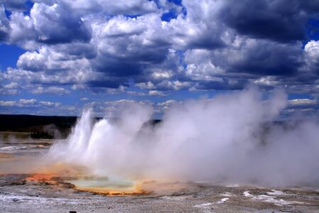 Thermal activity in Yellowstone National Park, Wyoming Stock Photo
