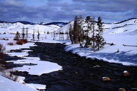 Salmon river in february near Stanley Idaho photo