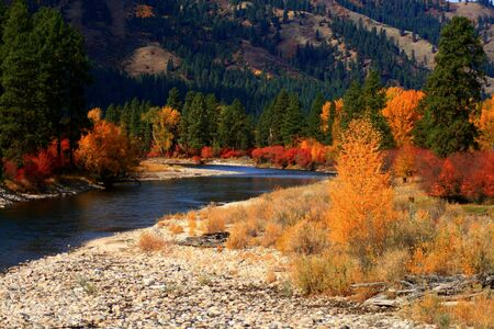 View of south fork of the Payette River from Alder Creek bridge, Idaho Reklamní fotografie