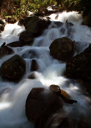 Spring run off on Fall Creek as it pours into Payette Lake, McCall Idaho