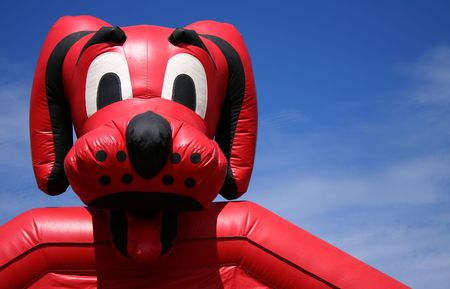 Childrens inflatable fun ride at small county fair, Idaho
