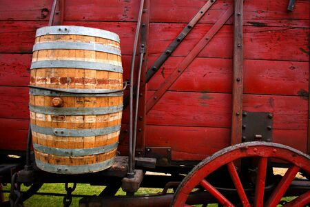 Water barrel used for drinking on ore wagons in Idaho in late 1800s